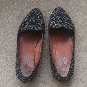 Madewell black/white fabric loafers. Size 6.5.